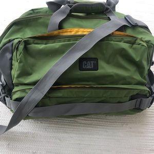 "CAT Large Duffle Bag 22""x 14"" Green Yellow"